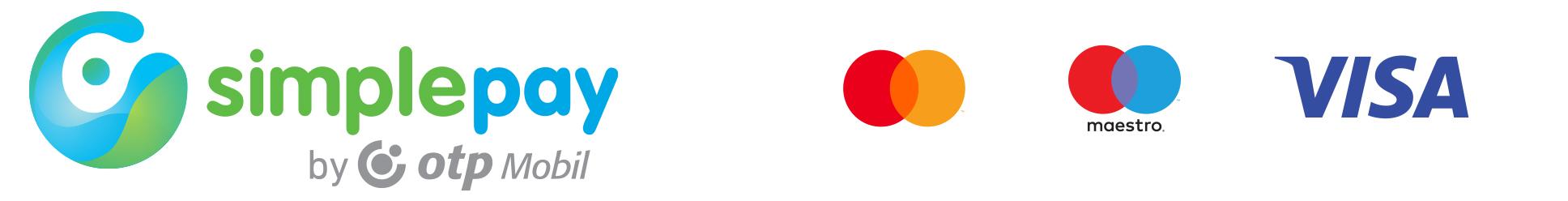 SimplePay bankkártya logók